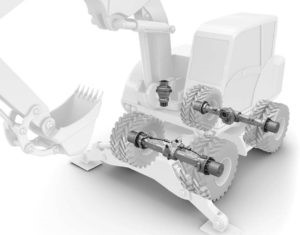 محصولات زد اف برای بیل مکانیکی چرخ لاستیکی
